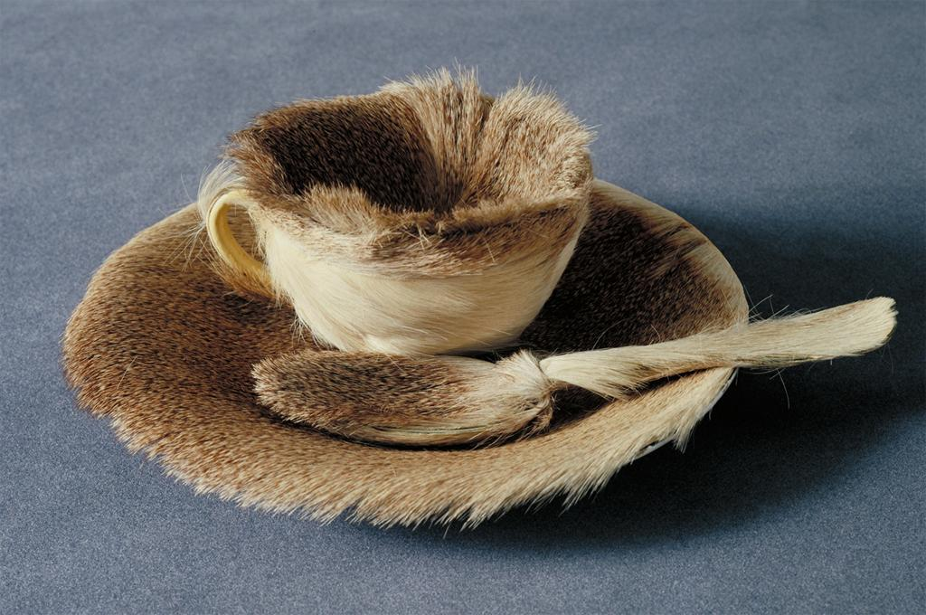 Meret Oppenheim, Object, 1936. Fur-covered cup, saucer and spoon. The Museum of Modern Art, New York