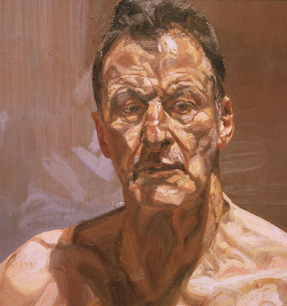 Lucian Freud, Reflection, 1985. Oil on canvas.  University of California, San Diego.