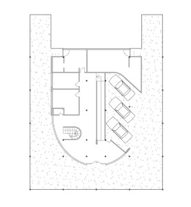 Figure 2, Floor plan, Le Corbusier, Villa Savoye, 1928-1929. As reproduced in ARCH1201 Design Studio 3.
