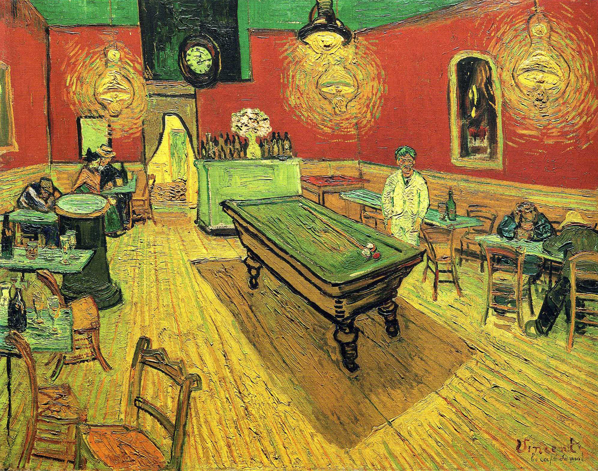 Vincent Van Gogh, Night Cafe, 1888. Oil on canvas. Yale University Art Gallery, Connecticut