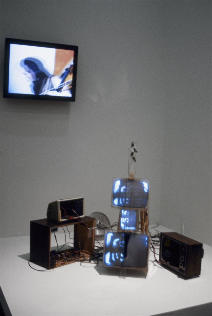 Nam June Paik, TV Cello, 1971. Film, audio, video and digital art sculpture and installations. Holly Solomon Gallery.