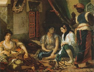 Eugène Delacroix. Women of Algiers. 1834. Oil on canvas. 70 x 90 inches. Musée du Louvre.